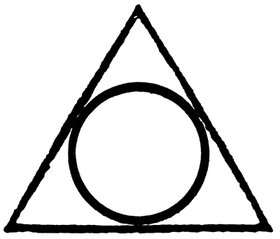 Image result for symbol of a triangle with a circle inside
